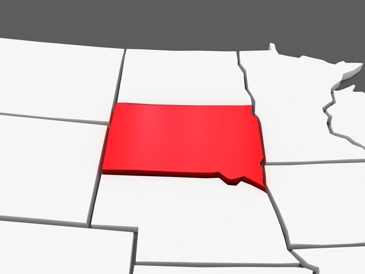 3d south dakota map