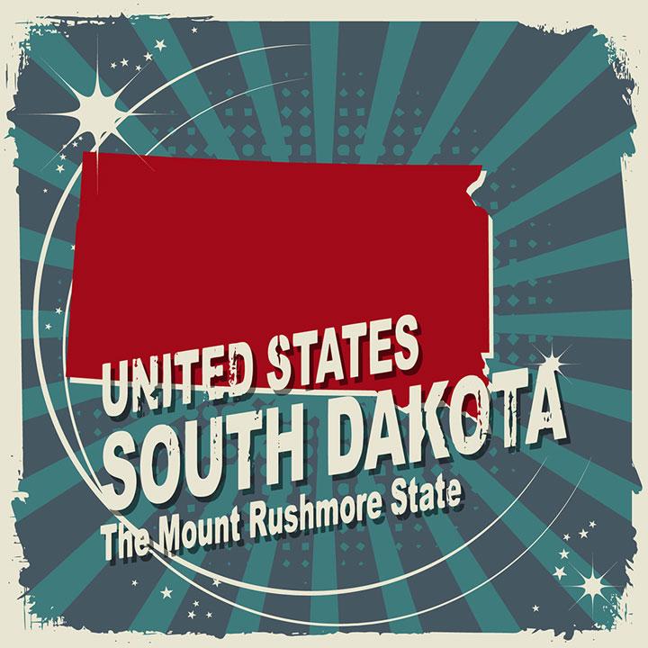 abstract south dakota map