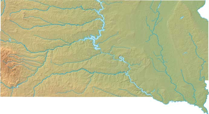 Dakota Relief Map